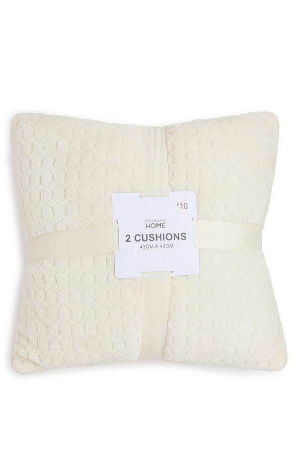 2-Pack Cream Soft Textured Cushions
