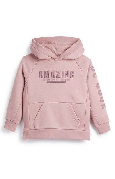 Younger Boy Blush Pink Amazing Ultimate Hoodie