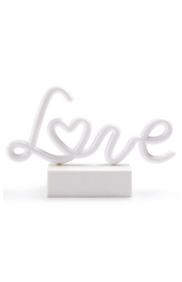 Décoration lumineuse à néon Love