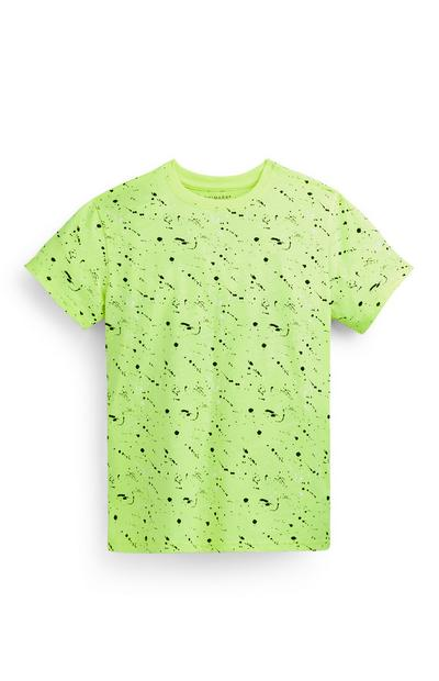 Camiseta verde con estampado para niño mayor
