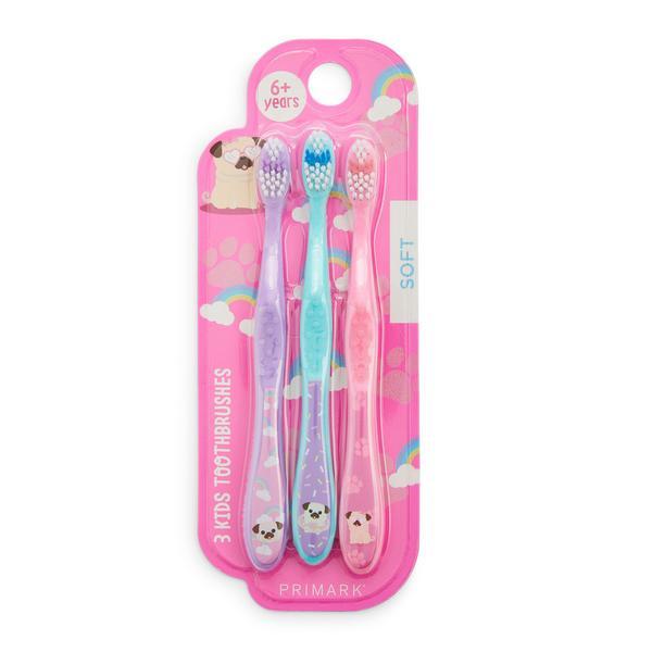 Pack 3 escovas de dentes Six Plus criança