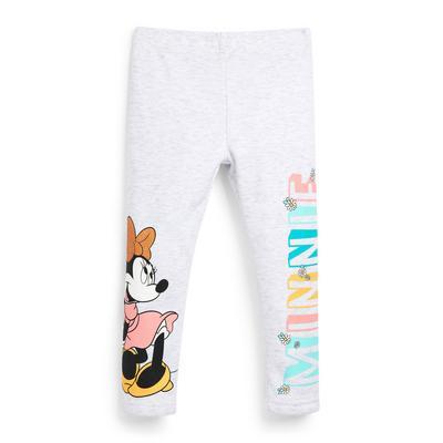 Legging douillet blanc avec imprimé Disney Minnie Mouse fille