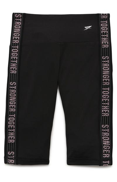 Older Girl Black Active Cycle Shorts