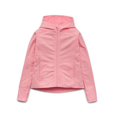 Rosafarbene Fleece-Trainingsjacke mit Kapuze (Teeny Girls)