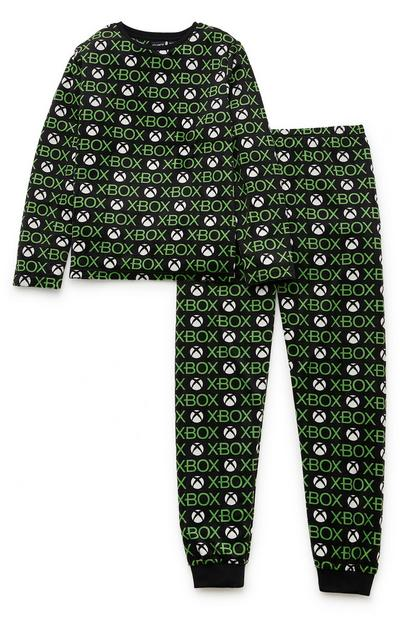 Older Boy Black And Green Xbox Pyjamas