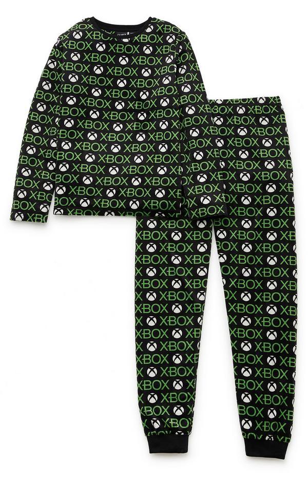 Črno-zelena pižama Xbox za starejše fante