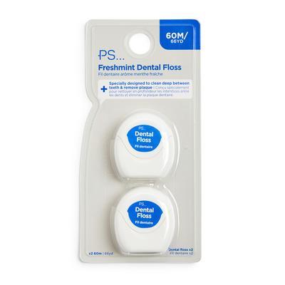 Lot de 2 fils dentaires Ps Freshmint