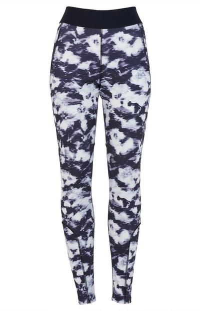 Navy Pattern Activate Sports Leggings