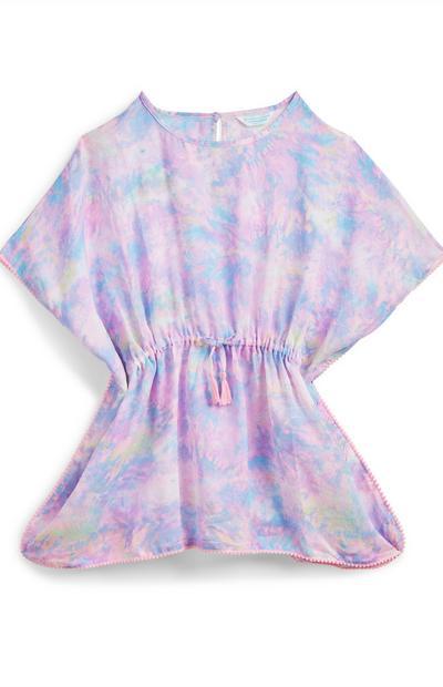 Older Girl Pastel Tie Dye Kaftan