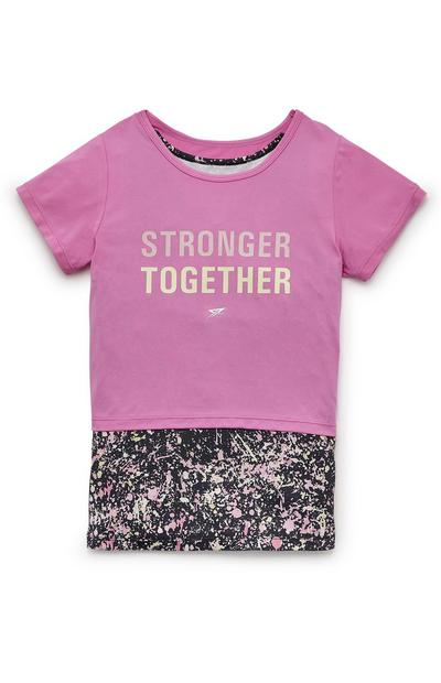 Older Girl Pink Active 2-In-1 T-Shirt