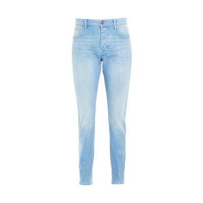 Blue Light Wash Denim Slim Stretch Jeans