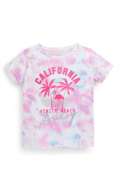 Older Girl Pastel Pink Tie Dye T-Shirt