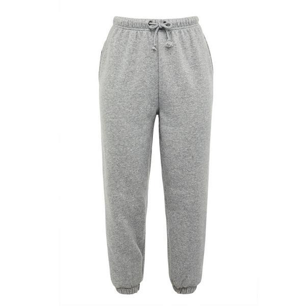 Pantalón de chándal gris con cordón de ajuste Recover