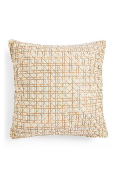 Cane Weave Square Cushion