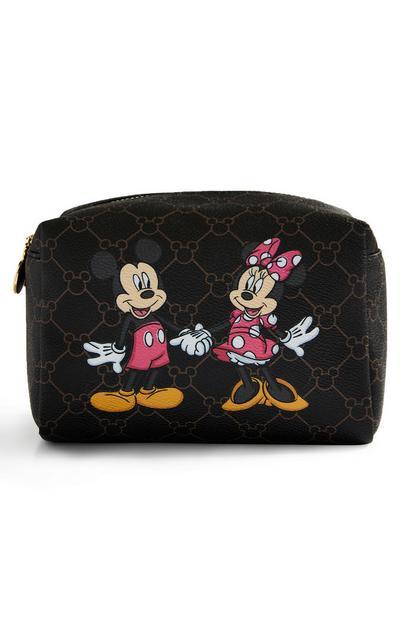 Disney Mickey and Minnie Monogram Make-Up Bag
