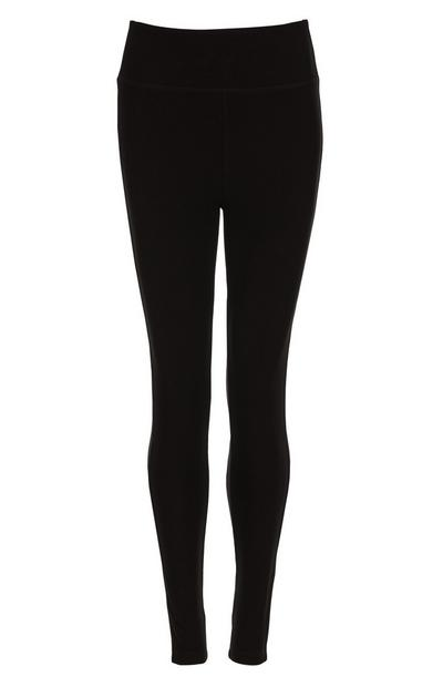 Leggings caneladas preto