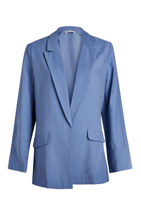 Blauwe blazer met relaxte pasvorm