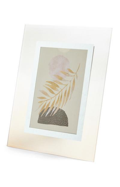 White Tinted Glass Photo Frame