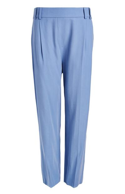 Blue Relaxed Fit Tailored Trousers