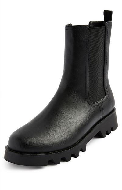 Black High Leg Chelsea Boots