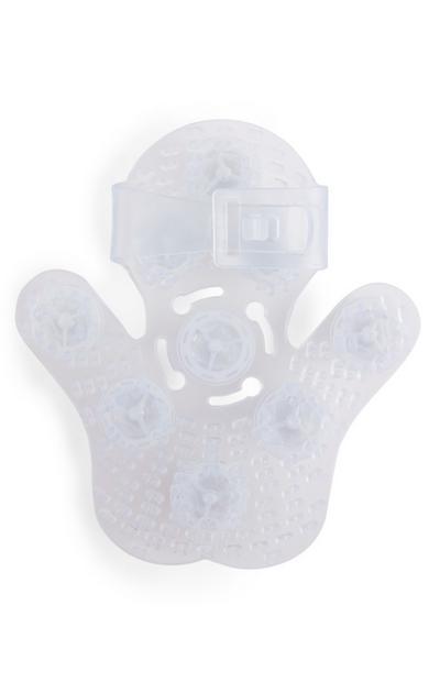 Witte handmassageroller voor het lichaam