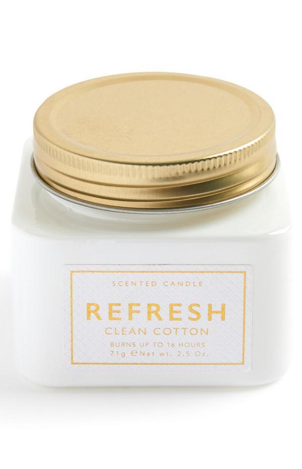 Vela aromática «Refresh» en tarro tamaño mediano