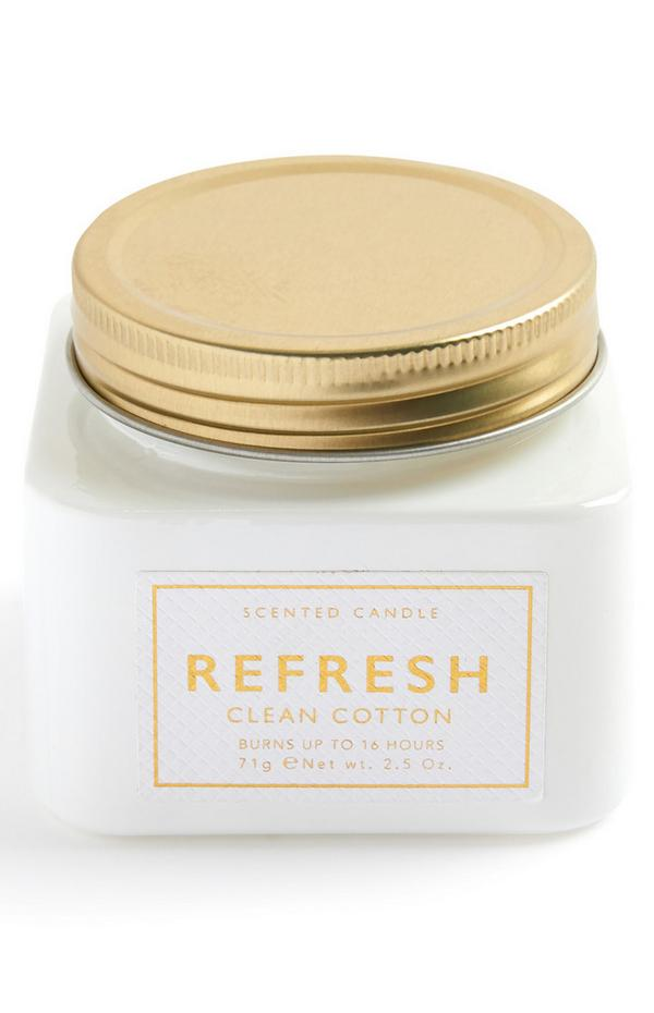 Candela profumata Refresh vaso medio