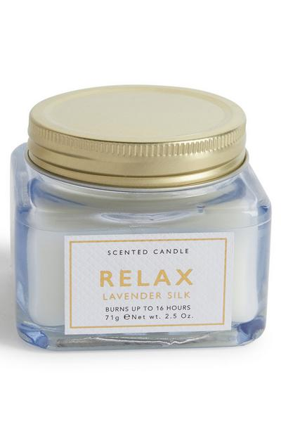 Relax Lavender Silk Scented Candle Jar