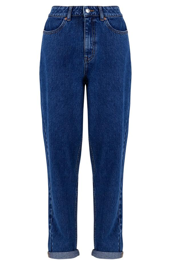 Slim-Fit-Jeans mit geradem Bein in verwaschenem Blau