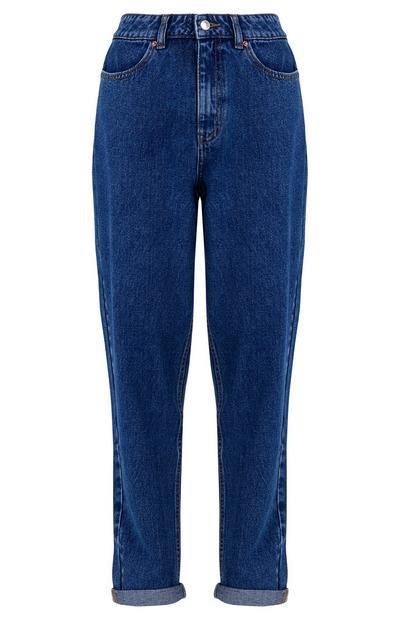 Blue Vintage Slim Straight Leg Jeans
