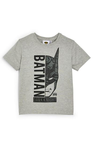Younger Boy Grey Batman T-Shirt