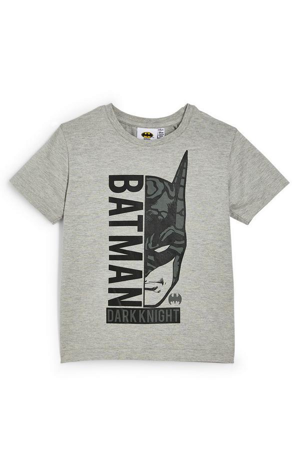 Younger Boy Gray Batman T-Shirt