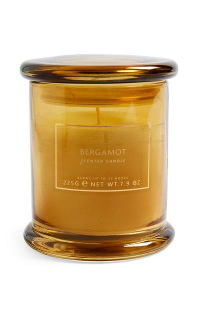 Sveča v kozarcu z vakuumskim pokrovom Bergamot