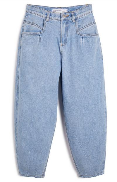 Older Girl Blue Halo Balloon Leg Jeans