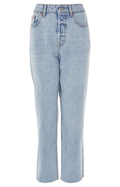 Light Wash High Waist Straight Leg Jeans