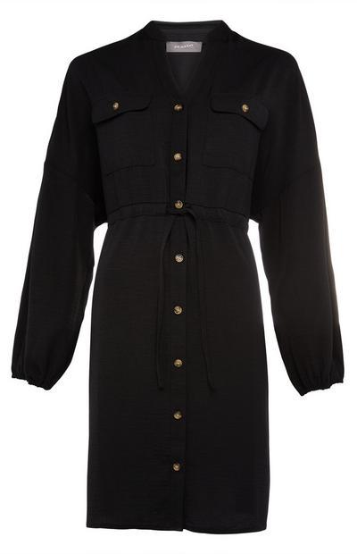 Zwarte tuniek met trekkoord