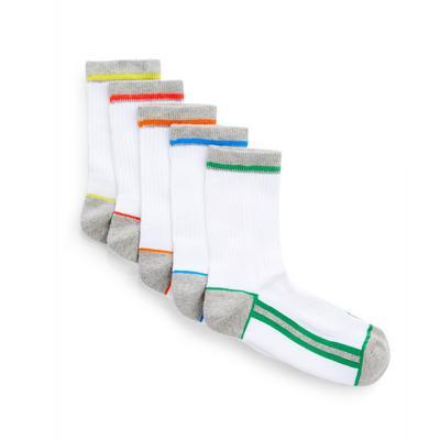 Boys Terry Sports Socks 5 Pack