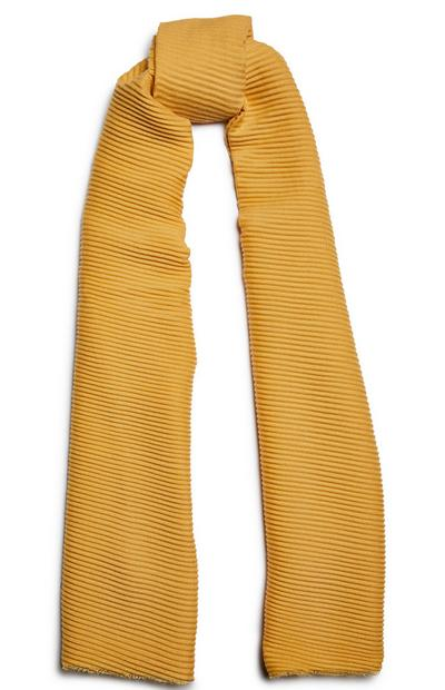 Mustard Pleated Scarf