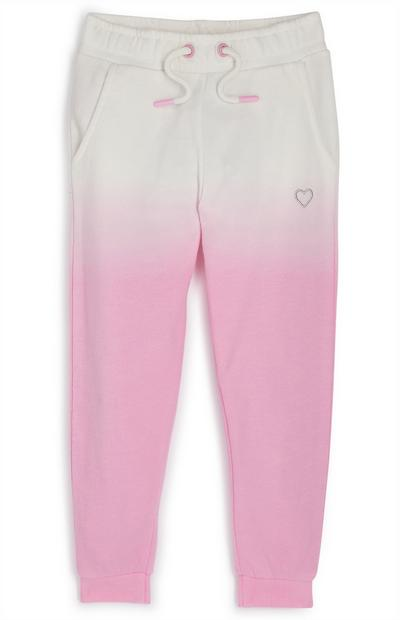 Younger Girl Pink Dip Dyed Joggers