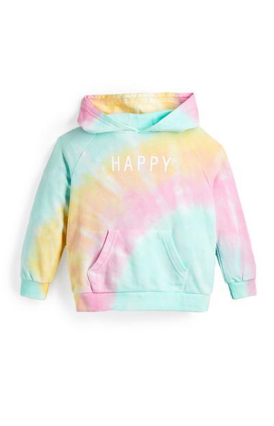 Pastelkleurige tie-dye hoodie voor meisjes