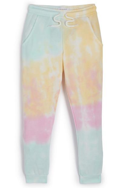 Pastelkleurige tie-dye joggingbroek voor meisjes