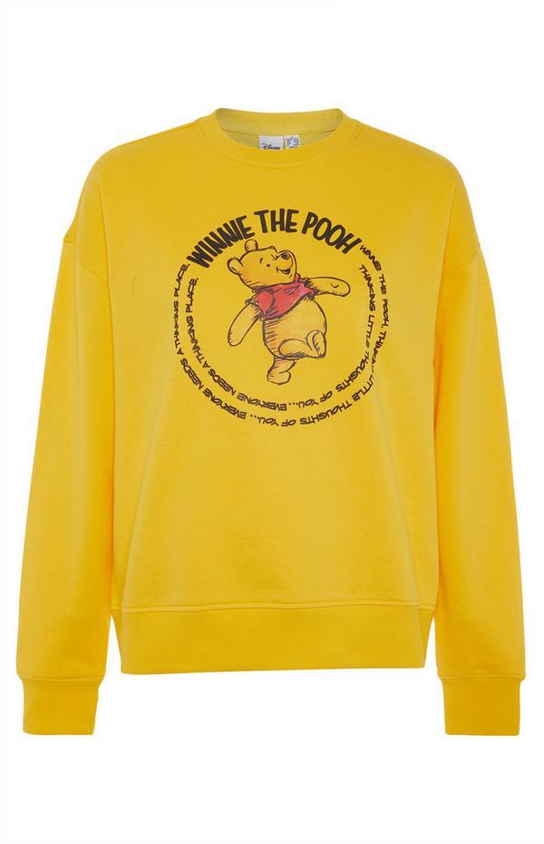 Winnie The Pooh Yellow Script Sweater