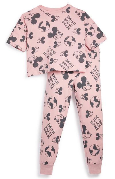 Korte roze pyjama Primark Cares met Disney Mickey Mouse voor meisjes