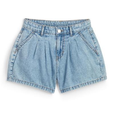Blauwe bloomershort van spijkerstof voor meisjes