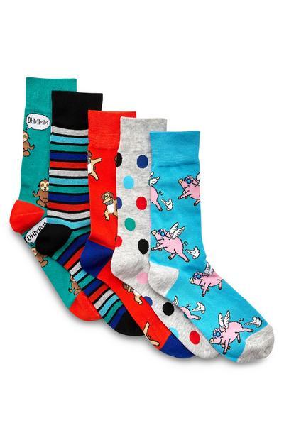 Opvallende sokken met dierenprint, 3 paar