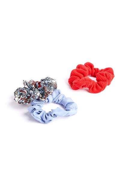 Mini Print Scrunchie 3 Pack