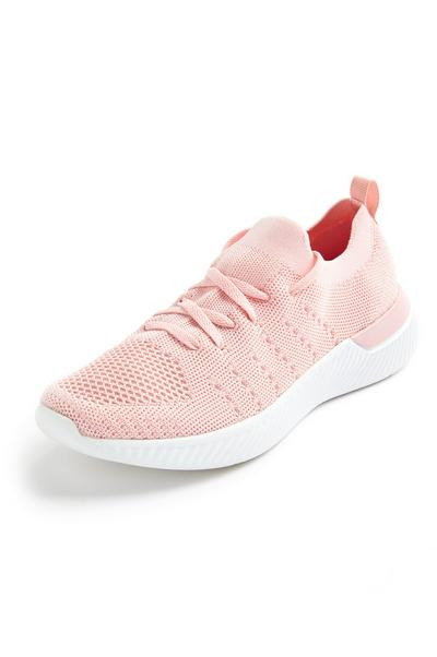 Light Pink Recycled Knit Trainers