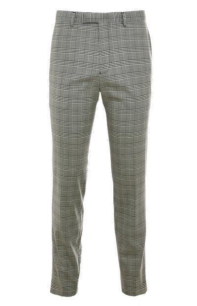 Pantalon gris à carreaux modernes Premium