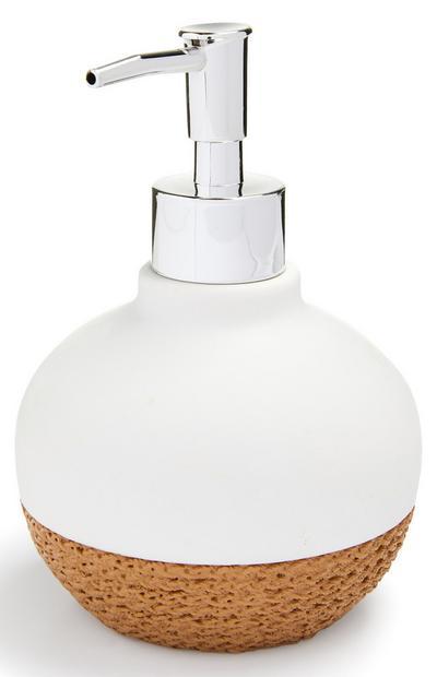 White Rope Base Soap Dispenser