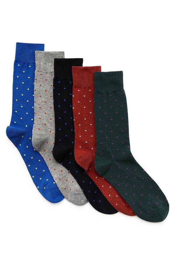 5-Pack Pin Dot All Season Sock